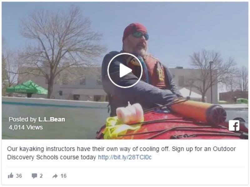 Truyền bá khóa học chèo thuyền kayak bằng video hấp kéo.