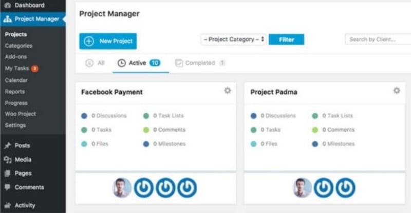 Công cụ WP Project Manager giúp Leader theo dõi công việc các thành viên. (Nguồn: WP).