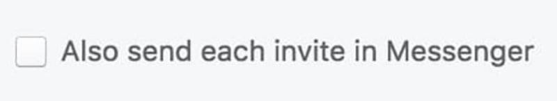 Gửi lời mời bạn bè thích trang qua Messenger.
