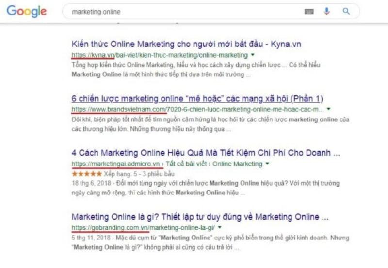 Search Google để xem bạn có những đối thủ nào và họ viết content như thế nào.
