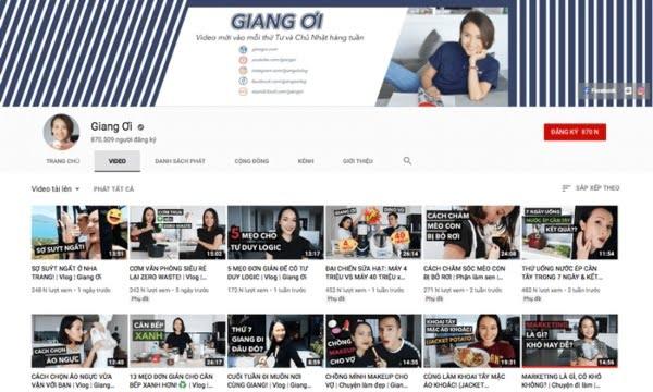 Vlog là gì - Kênh Vlog củaGiang Ơi.