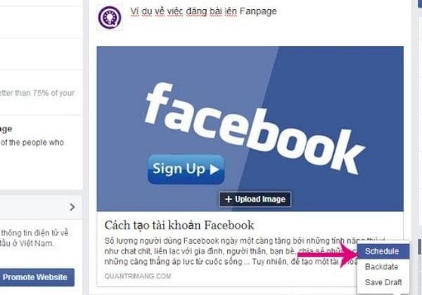Hẹn giờ đăng bài trên giao diện Facebook cũ.